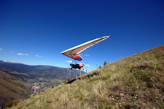 Hang Gliding Over Missoula, MT